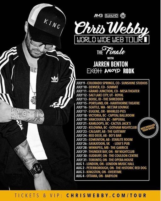 Chris Webby at NV Music Hall - Thunder Bay (ON) - May 8th '21, 8 May | Event in Thunder Bay | AllEvents.in