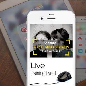 Free LIVE Training  Social Media Secrets