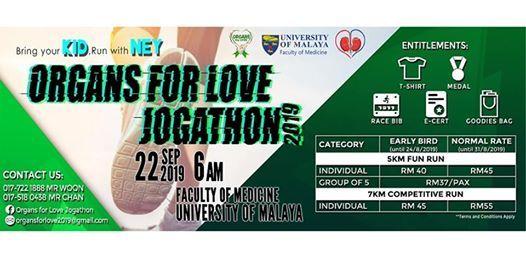 Organs for Love Jogathon 2019