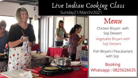 Live Indian Cooking Class, 21 March | Event in Johannesburg | AllEvents.in