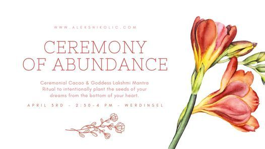 Ceremony of Abundance - Cacao & Mantra Ritual, 29 May | Event in Kloten | AllEvents.in