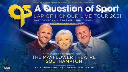 A Question of Sport Live, 30 November | Event in Southampton | AllEvents.in