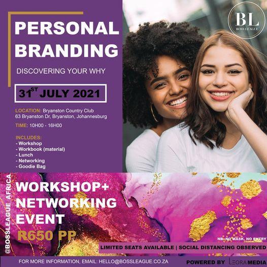 PERSONAL BRANDING WORKSHOP, 31 July   Event in Sandton   AllEvents.in