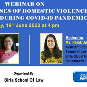 Webinar on the rise in cases of domestic violence in lockdown