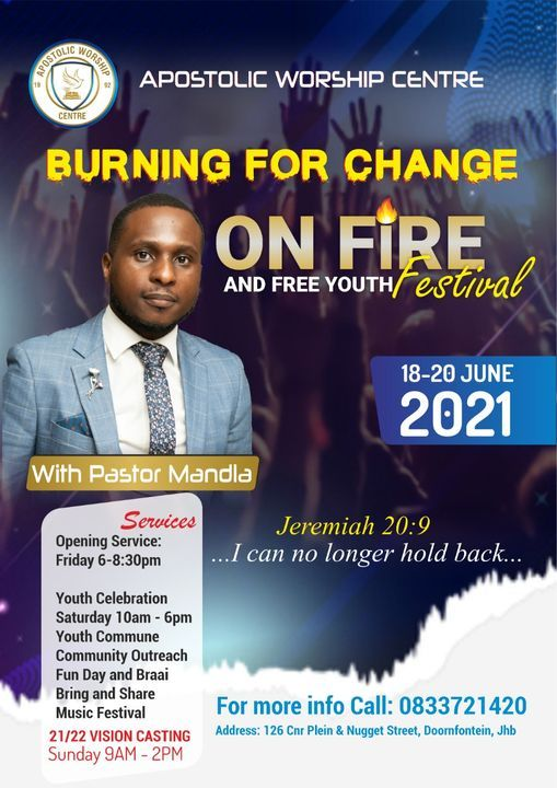 On Fire and Free Youth Festival, 18 June | Event in Johannesburg | AllEvents.in