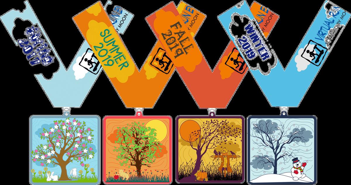 The Four Seasons Four Miles Challenge Spring Summer Autumn Winter - Henderson