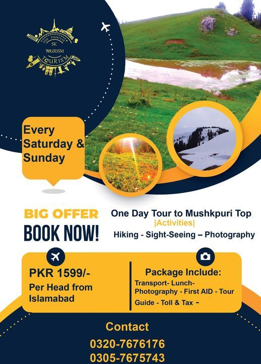 One Day Tour to Mushkpuri Top, 25 October | Event in Islamabad | AllEvents.in