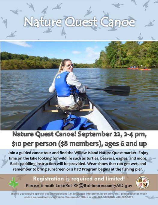 Nature Quest Canoe at Lake Roland   Riderwood