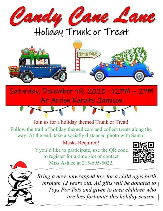 Action Karate Holiday Trunk or Treat down Candy Cane Lane, 19 December   Event in Jamison   AllEvents.in