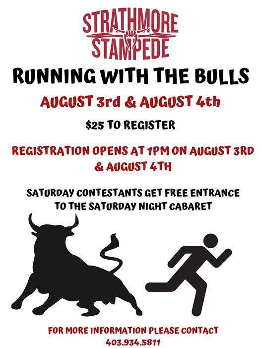 2019 Running With The Bulls At Strathmore Stampede Strathmore