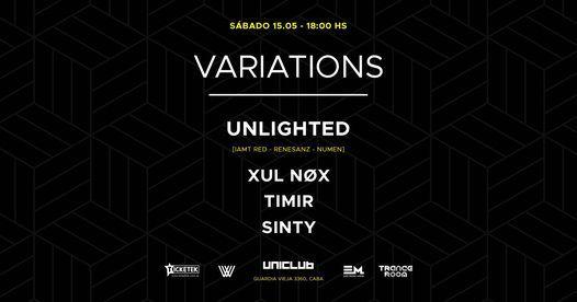 SABADO 15 DE MAYO @ VARIATIONS – UNICLUB., 15 May | Event in Buenos Aires | AllEvents.in