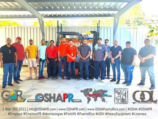 Clases de Manejo de Montacargas  Certificacin OSHA