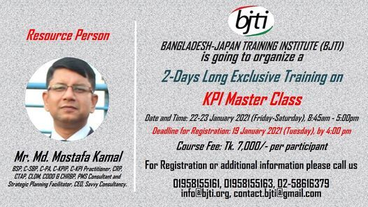 KPI Master Class, 22 January | Event in Dhaka | AllEvents.in