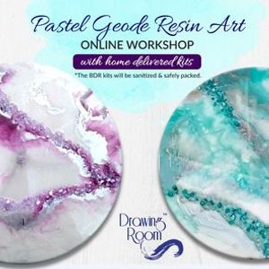 Pastel Geode Resin Art Online Workshop with Home Delivered Kits