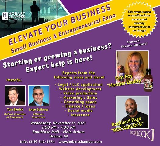 ELEVATE Your Business; Small Business & Entrepreneurial Expo!, 17 November | Event in Merrillville | AllEvents.in