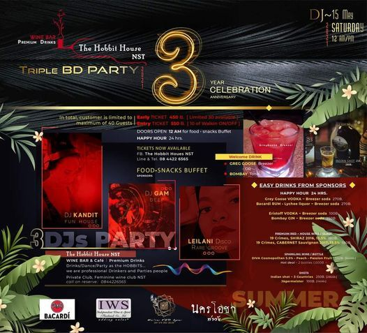 Triple BD Party 3 YEAR Celebration 2021, 29 May | Event in Nakhon Si Thammarat | AllEvents.in