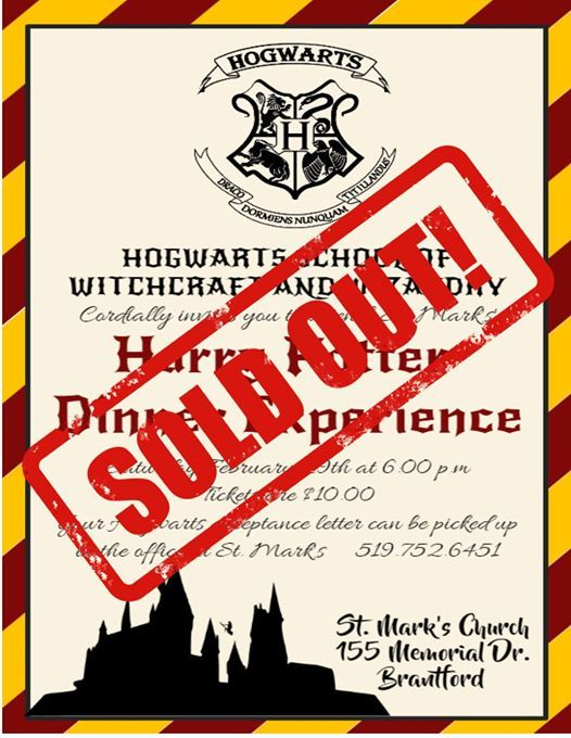 Harry Potter Dinner Experience  SOLD OUT
