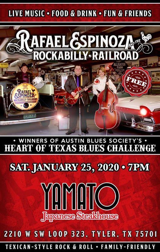 Rafael Espinoza & The Rockabilly Railroad at Yamato Tyler TX