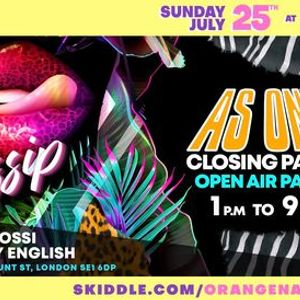 Gossip - Summer Terrace Party - Part of As One Festival Weekender