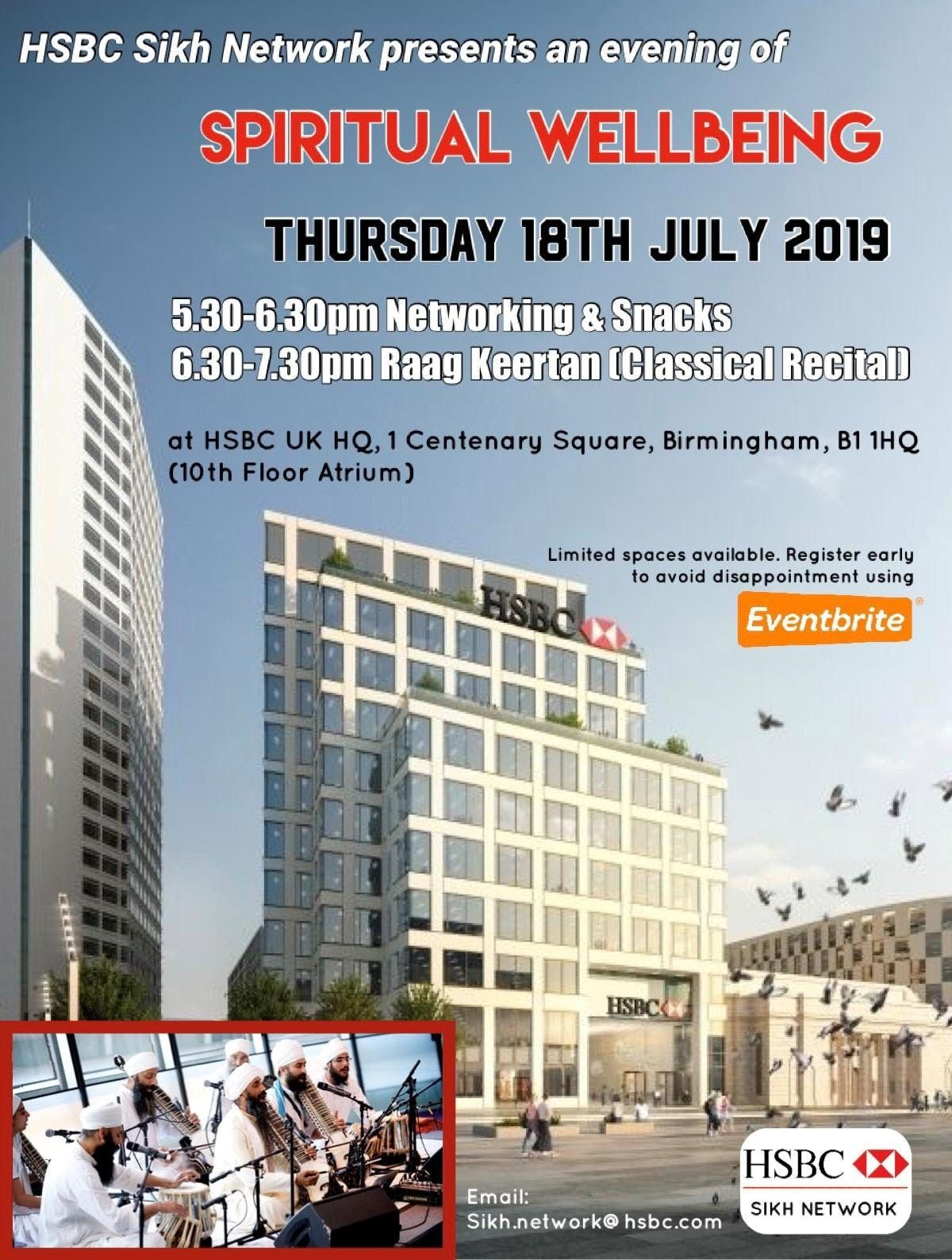 HSBC Sikh Network - Evening of Spiritual Well-being at HSBC