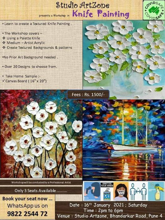 Palette Knife Painting Workshop, 16 January | Event in Pune | AllEvents.in