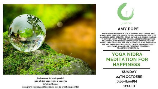 Yoga Nidra Meditation for Happiness, 24 October   Event in Dubai   AllEvents.in