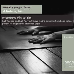 Weekly Yoga Class St Helens - Vin to Yin