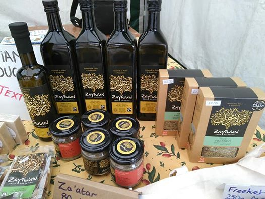 Palestine Stall at Leek Market