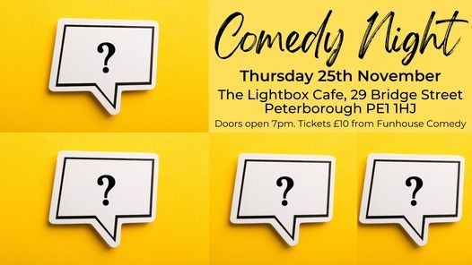 Comedy Night, 25 November   Event in Peterborough   AllEvents.in
