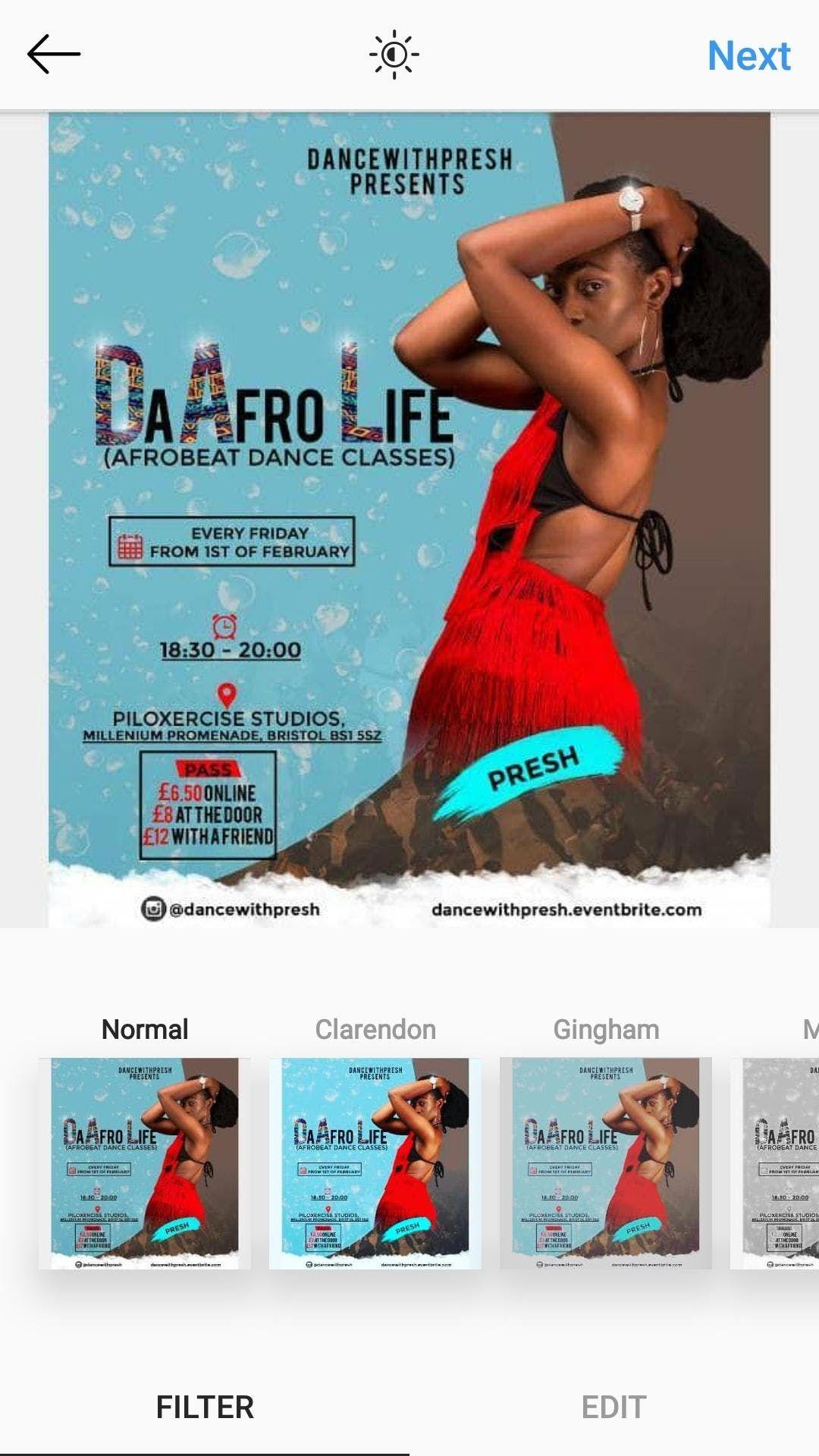 The-Afro-Life (Afrobeat dance class)