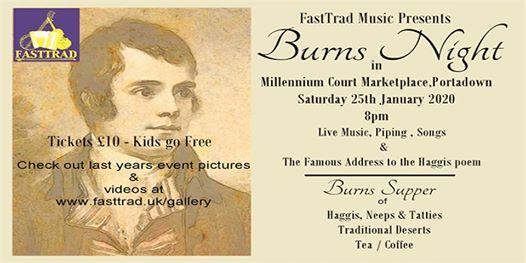 Burns Night Saturday 25th January 2020 8pm at Millennium