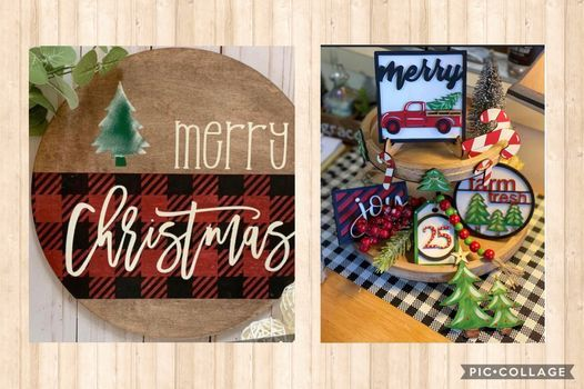 Merry Christmas Sign   Christmas Themed Mini Signs w. Vanessa Wise