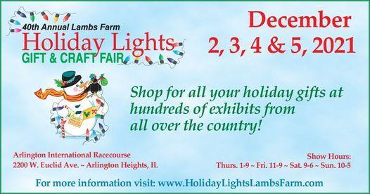 2021 Farm Show Christmas Craft Show Lambs Farm Holiday Lights Gift Craft Fair Arlington Park Arlington Heights December 2 To December 5 Allevents In