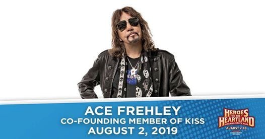 Ace Frehley on the Indiana State Fair Free Stage at Indiana State