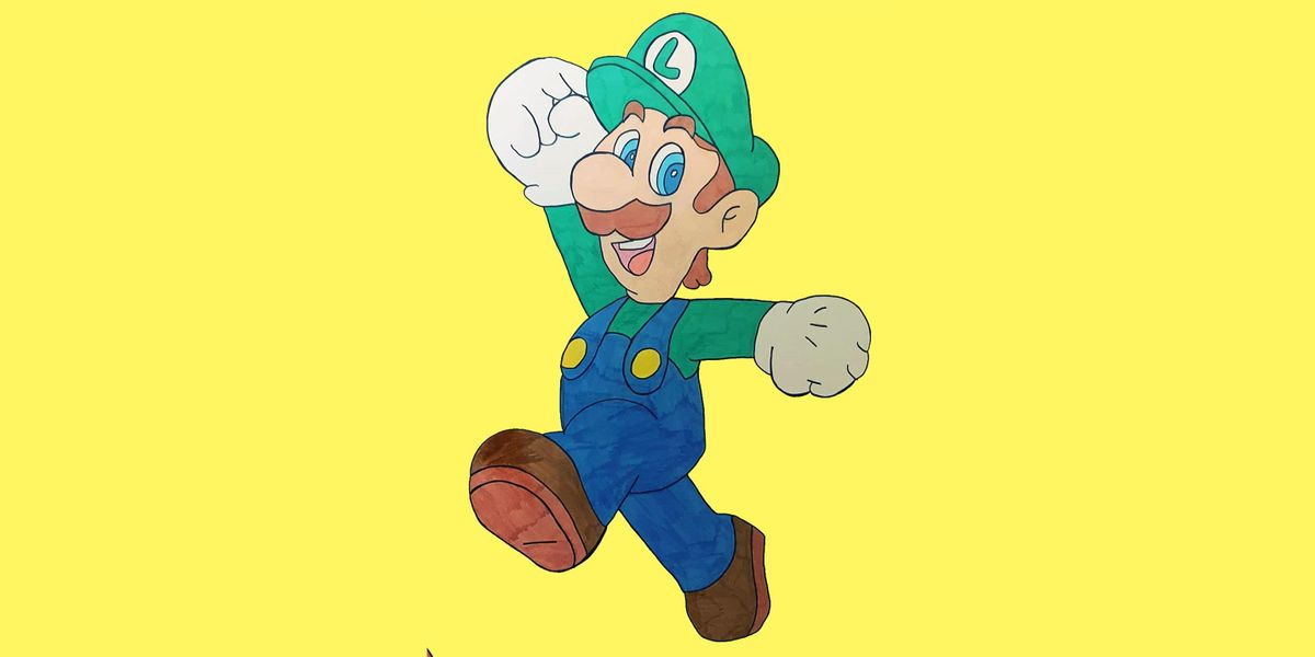 60min How To Draw Super Mario Characters Luigi 1pm Ages 6 On