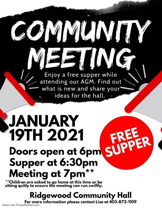 Annual AGM, 19 January | Event in Red Deer | AllEvents.in