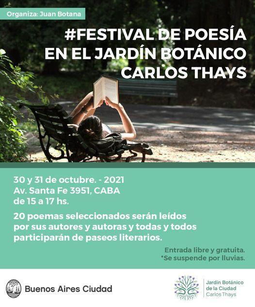 Festival de Poesía en el Jardín Botánico Carlos Thays, 31 October   Event in Olivos   AllEvents.in