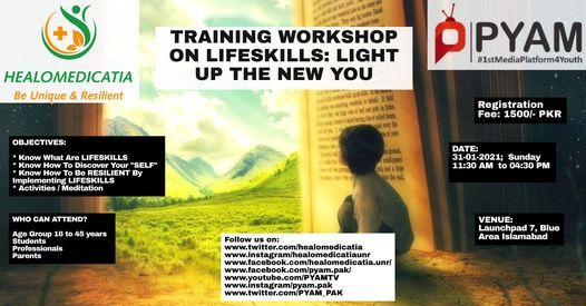 Life Skills Training Workshop, 31 January | Event in Islamabad | AllEvents.in