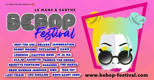 Festival BeBop du 2 au 9 novembre au Mans et  travers la sarthe