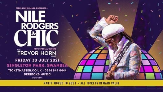 Nile Rodgers & CHIC   Singleton Park Swansea, 30 July   Event in Swansea   AllEvents.in