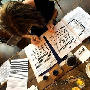Brush Lettering Workshop with The Crafthood