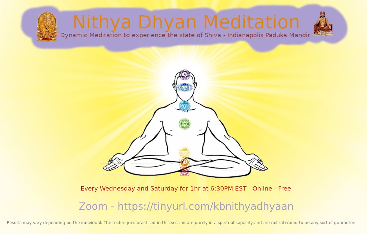 Nithya Dhyan Chakra Meditation | Online Event | AllEvents.in