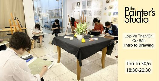 Khai giảng: Lớp học Vẽ than/chì cơ bản - Intro to Drawing, 23 June   Event in Hanoi   AllEvents.in