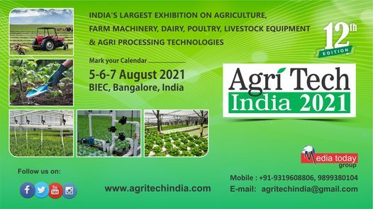 AgriTech India 2021, 5 August | Event in Bangalore | AllEvents.in