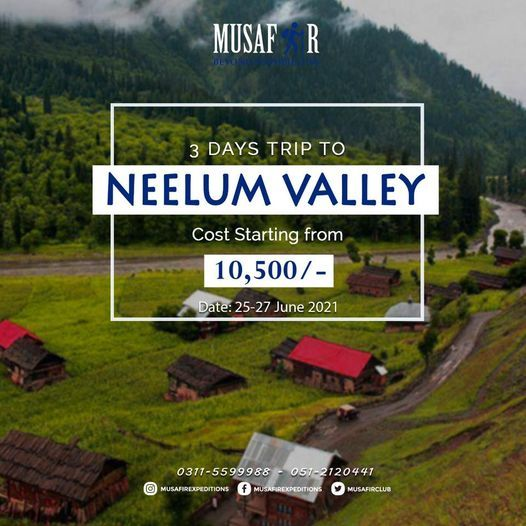 3 Days trip to Neelum Valley.   Event in Islamabad   AllEvents.in
