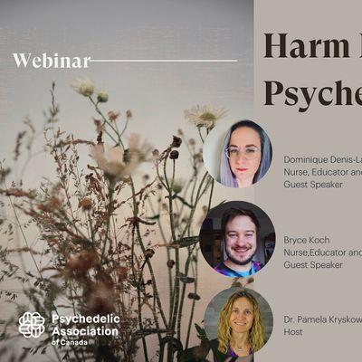 Harm Reduction Webinar - Canadian Psychedelic Association
