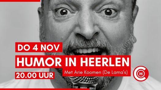 Humor in Heerlen - Met Arie Koomen (De Lama's), 4 November | Event in Heerlen | AllEvents.in