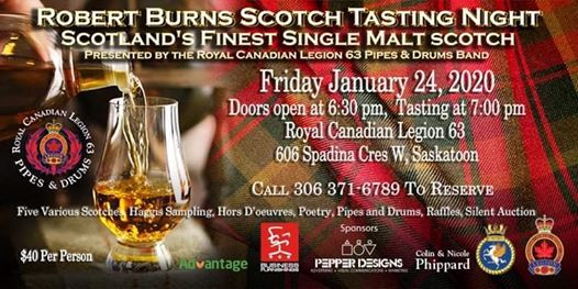 Robert Burns Scotch Tasting Night