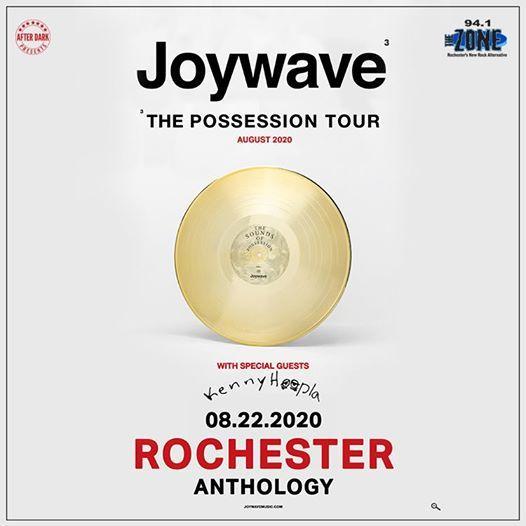 New Date - Joywave - Aug 22 at Anthology