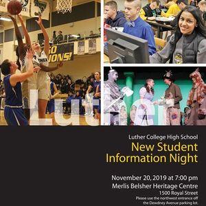 New Student Information Night